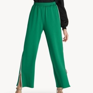 elastic waist side zip up pants